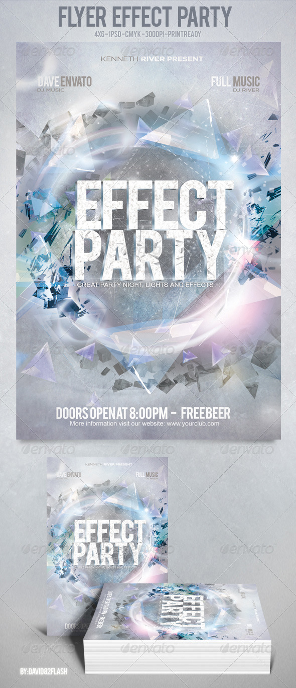 Flyer Effect Party - Clubs & Parties Events