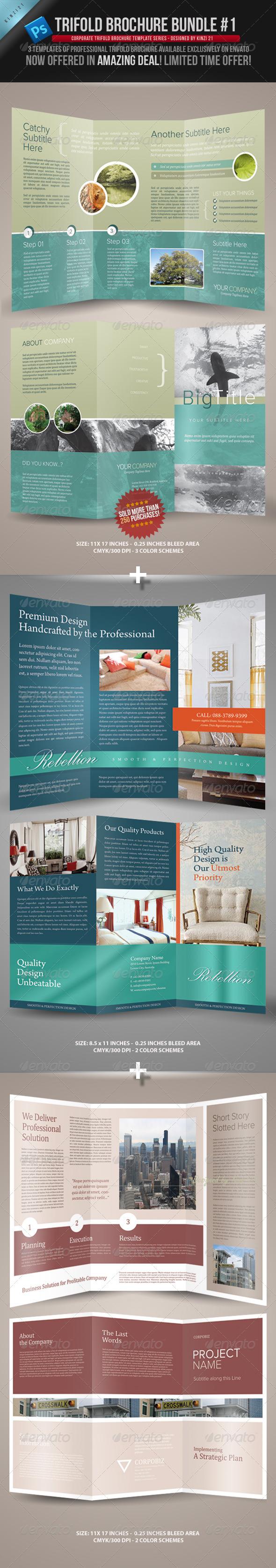 Trifold Brochure Bundle - Corporate Brochures