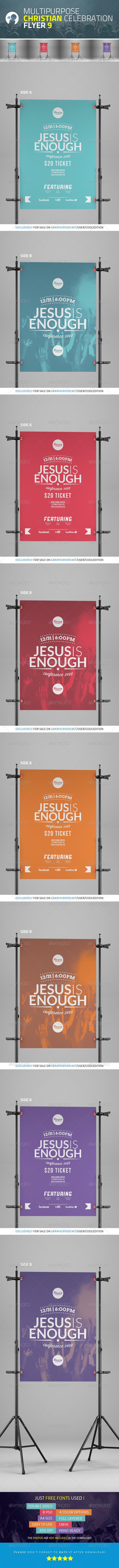 Multipurpose Christian Celebration Flyer 9 - Church Flyers