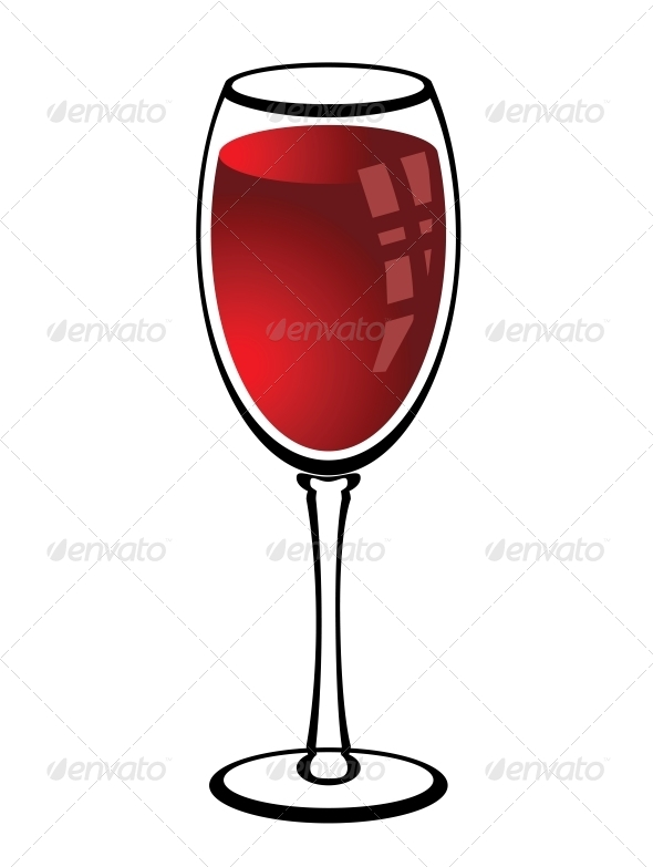GraphicRiver Glass of Red Wine 4519242