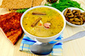 Soup pea with bacon and crispbreads - PhotoDune Item for Sale