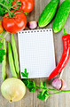 Notebook with vegetables and parsley - PhotoDune Item for Sale