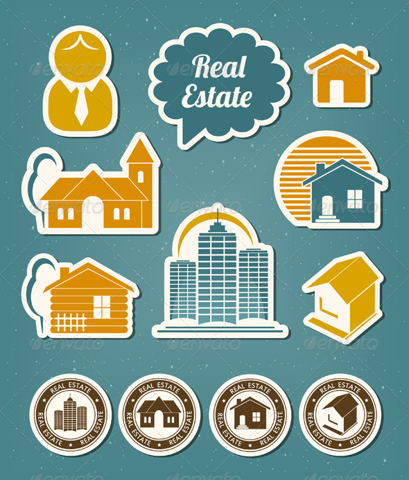 GraphicRiver Real Estate Icons 4519657