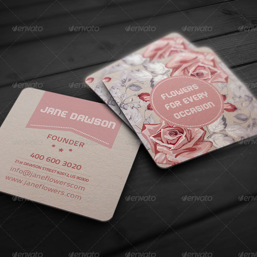 Flower Shop Business Card By Elenadodevska