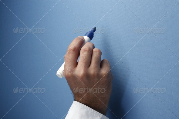 Writing to Wall - Stock Photo - Images