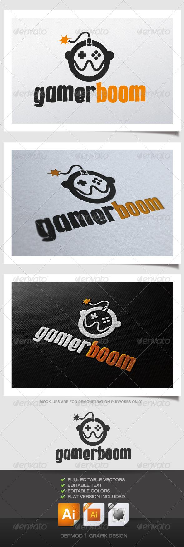 GraphicRiver Gamer Boom Logo 4485679
