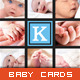 Baby Announcement Card - Triple Square - GraphicRiver Item for Sale