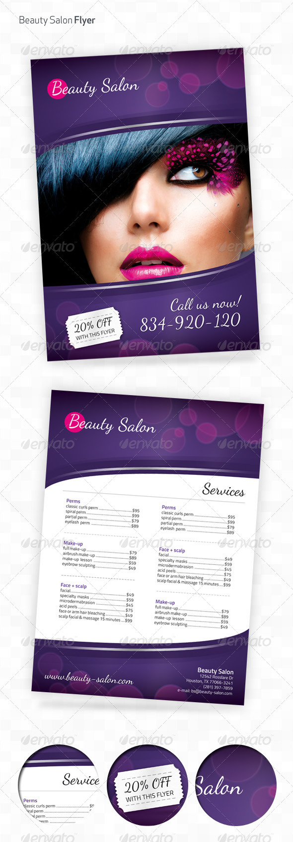 GraphicRiver Beauty Salon A4 Flyer 4520805