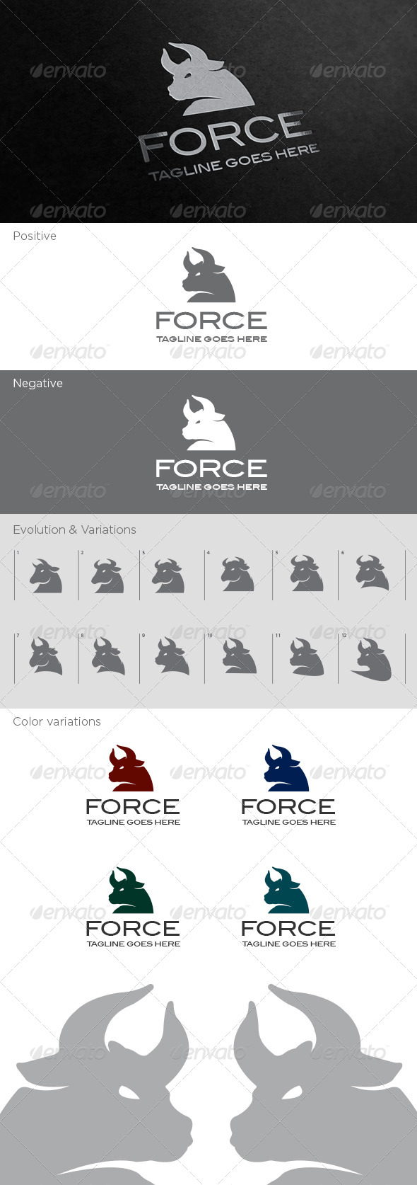 GraphicRiver Force Logo Template 4489730