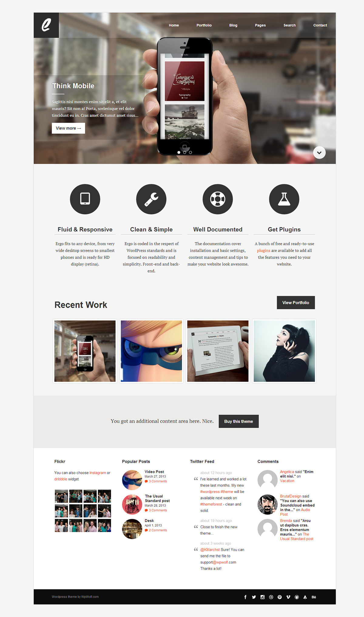 Ergo - Simple, Ergonomic and Clean Wordpress Theme