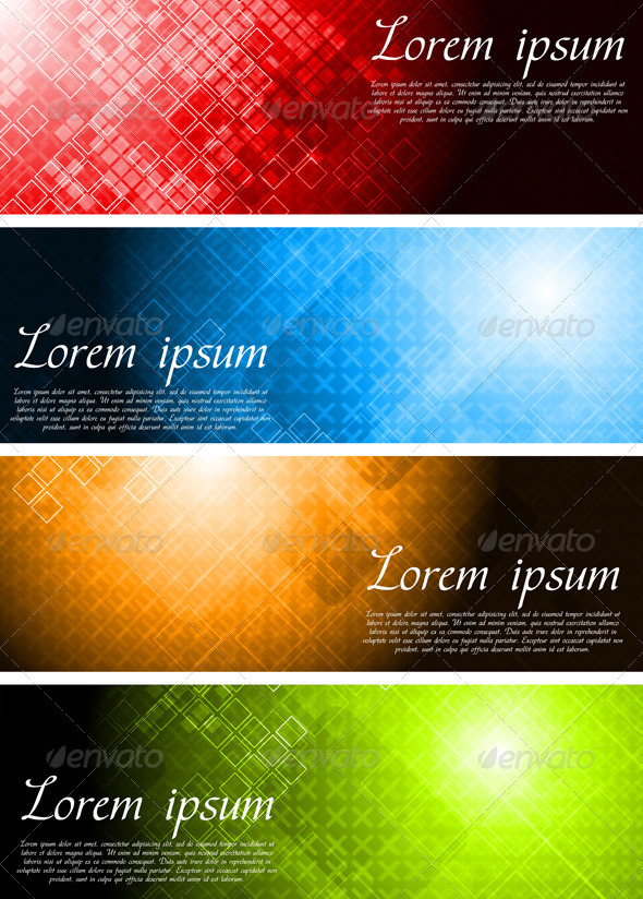 GraphicRiver Set of Bright Technology Banners 4521247