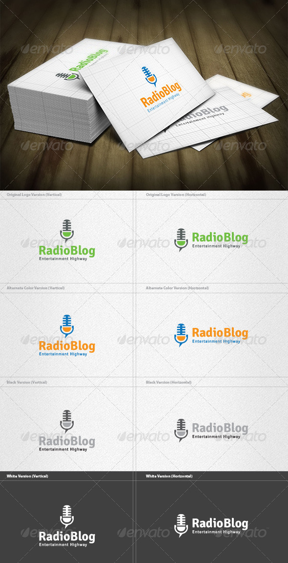 Radio Blog Logo - Objects Logo Templates