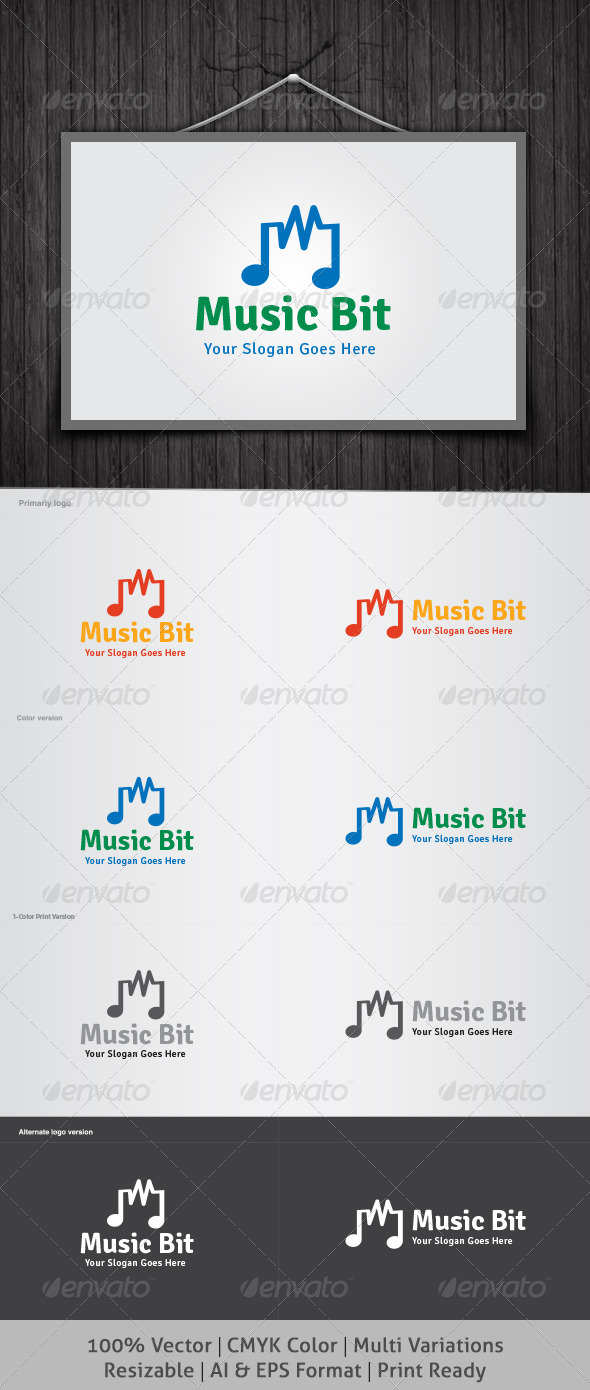 GraphicRiver Music Bit Logo 4467070