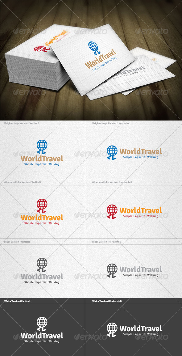 World Travel Logo - Vector Abstract