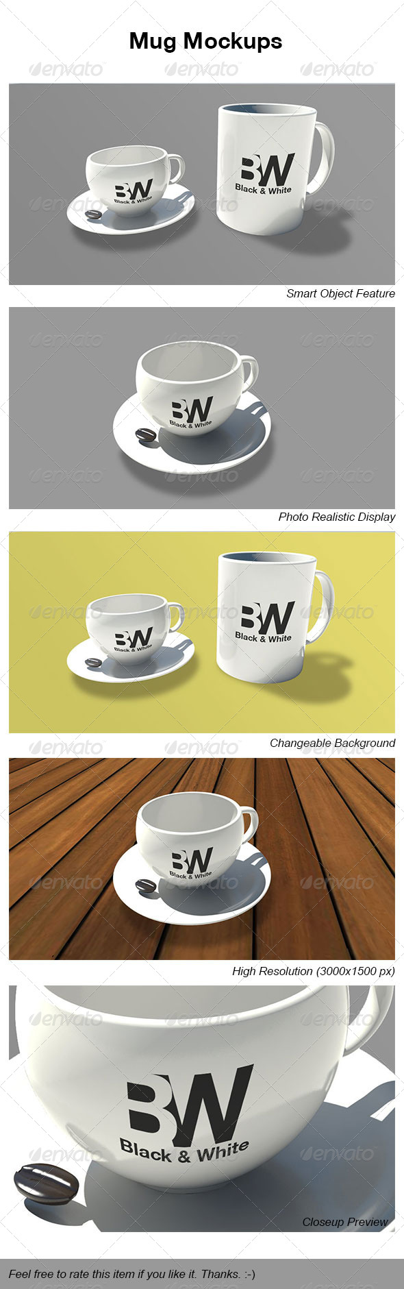 GraphicRiver Mug Mockups 4521384