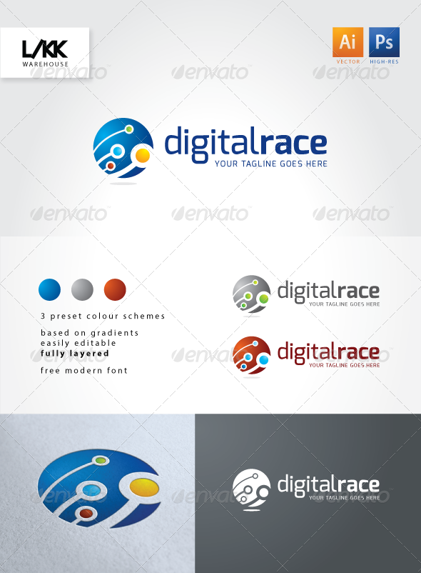 GraphicRiver DigitalRace Logo 4521415