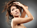 Beautiful glamour woman on gray background - PhotoDune Item for Sale