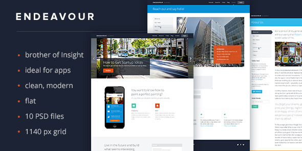ThemeForest Endeavour Flat Multipurpose Template 4521661