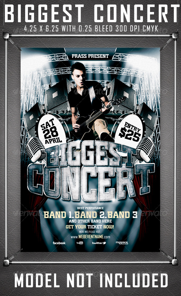 GraphicRiver Biggest Concert Flyer Template 4521672