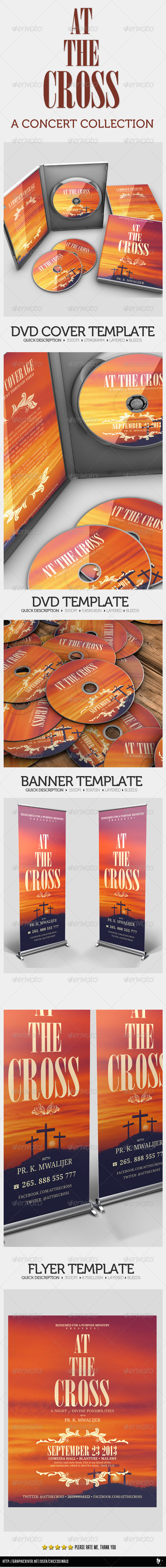 GraphicRiver At The Cross Concert Collection Banner Dvd Flyer 4521898