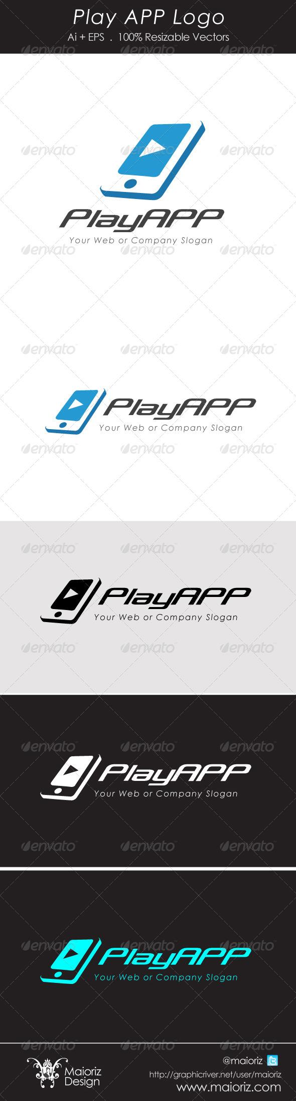 GraphicRiver Play App Logotype 4491459
