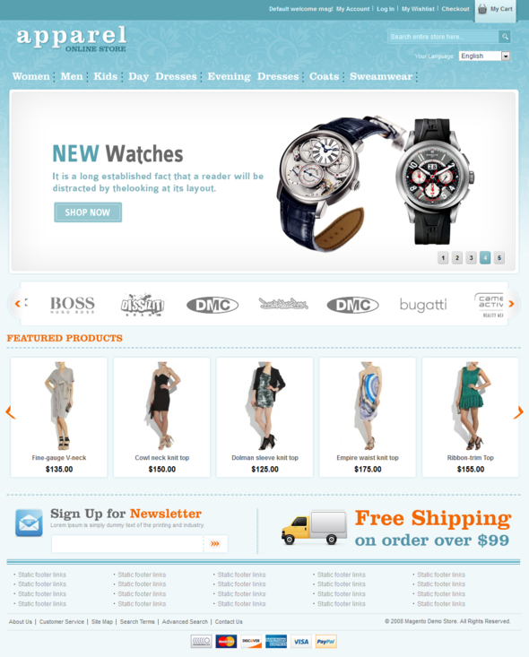 Apparel and Clothes Magento Template - ThemeForest Item for Sale