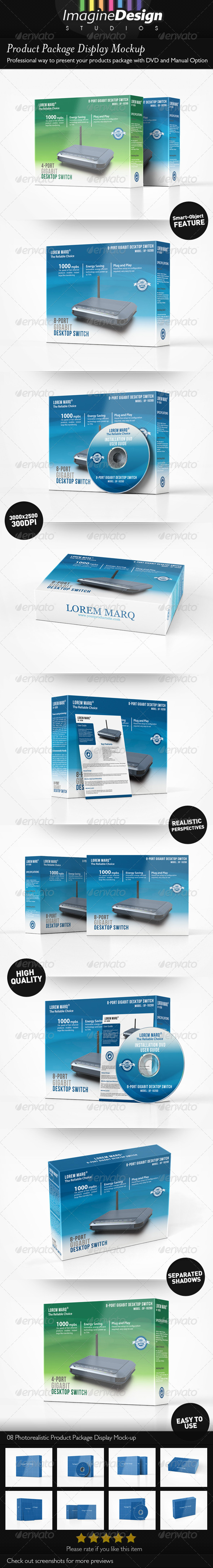 GraphicRiver Product Package Display Mockup 4522062