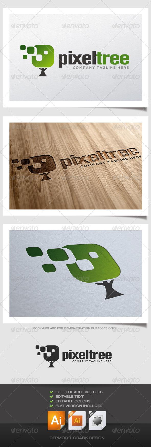 GraphicRiver Pixel Tree Logo 4522149