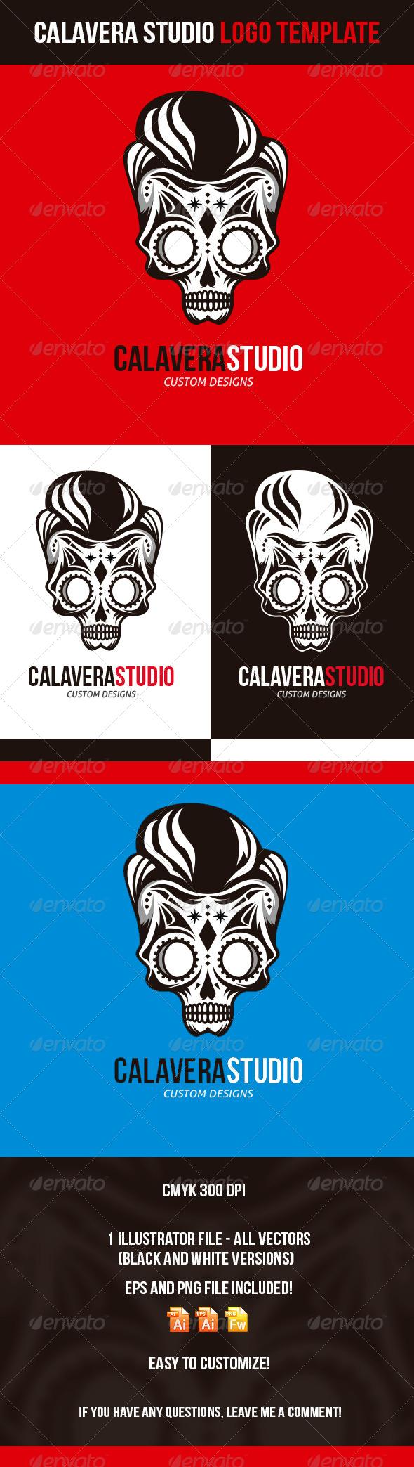 GraphicRiver Calavera Studio Logo Template 4485892
