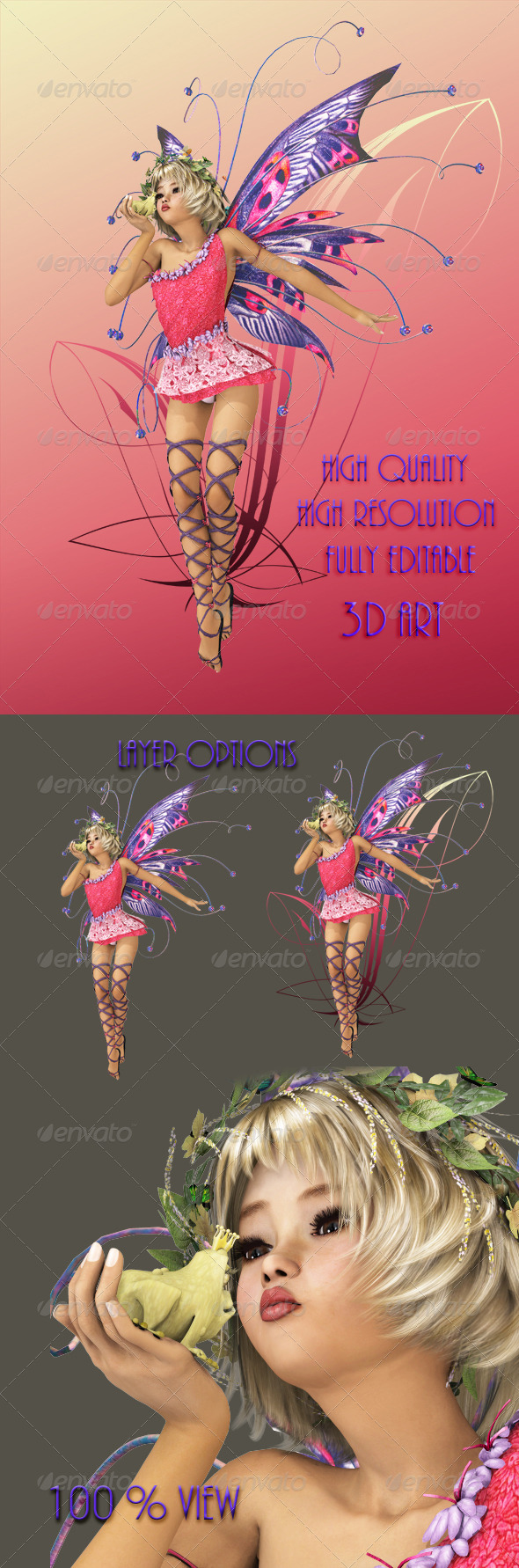 GraphicRiver Pink Pixie 4522266