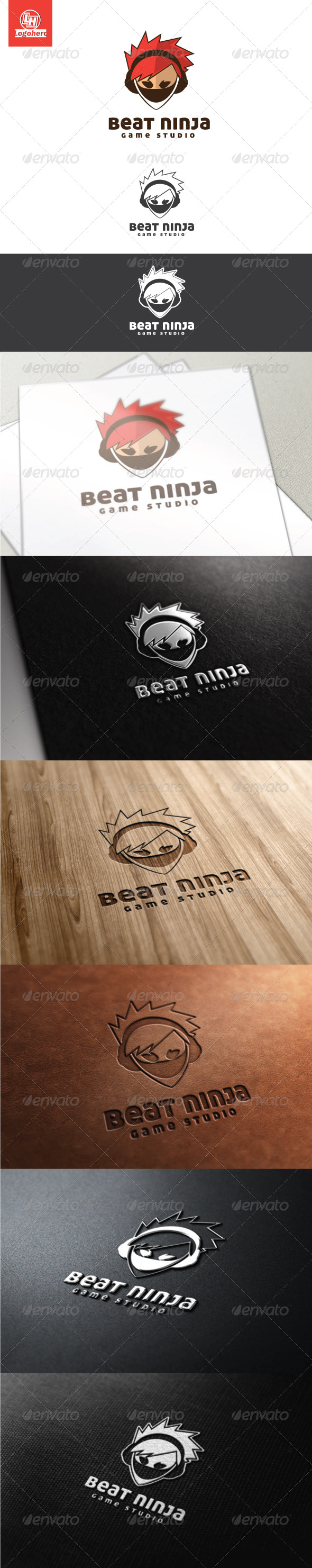 Beat Ninja Logo Template