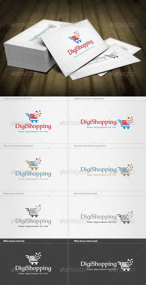 GraphicRiver Digital Shopping Logo 4522893