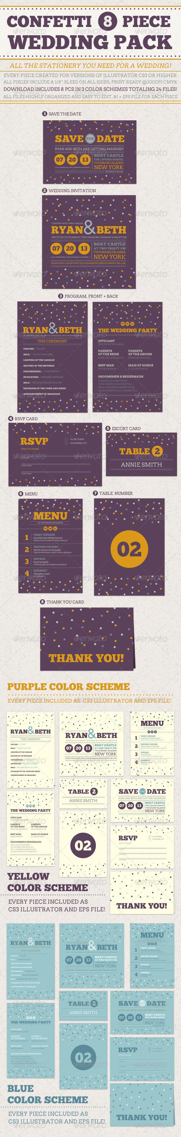 GraphicRiver Confetti Wedding Pack 4523129