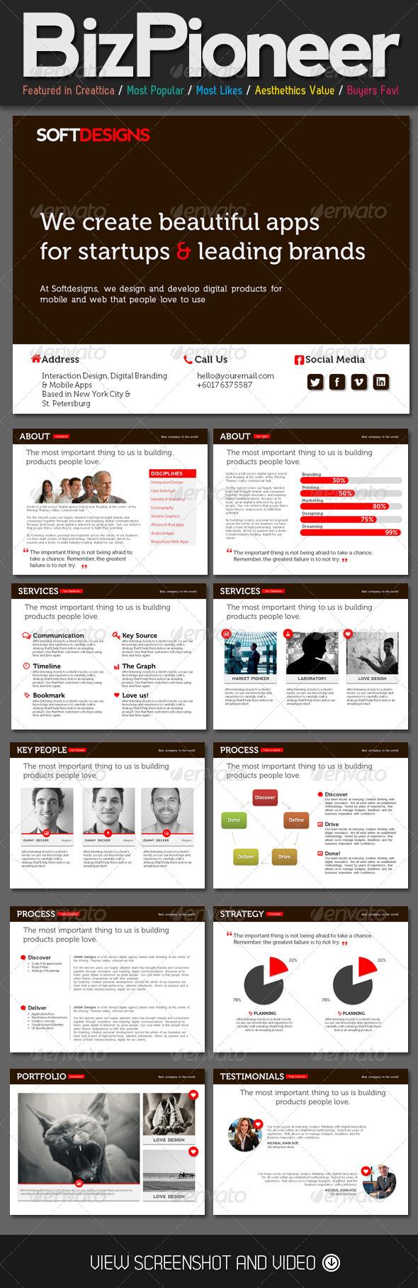 GraphicRiver Biz Pioneer PowerPoint Template 4523133