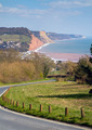 Coast Sidmouth Devon England UK