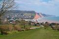 South West Coast Path Sidmouth Devon England