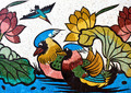 painting of duck and lotus - PhotoDune Item for Sale