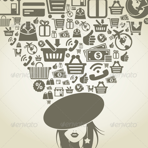 Girl shop - Stock Photo - Images