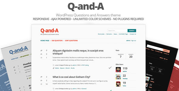 ThemeForest Q-and-A WP Questions and Answers 4524028