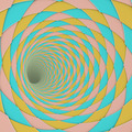 3d render diagonal tiled tunnel pink blue yellow - PhotoDune Item for Sale