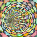 illustration tiled tunnel in multiple happy color - PhotoDune Item for Sale