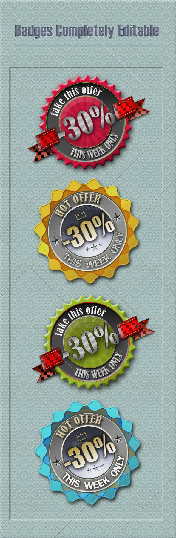 GraphicRiver Discounts Badges Editable 4386057