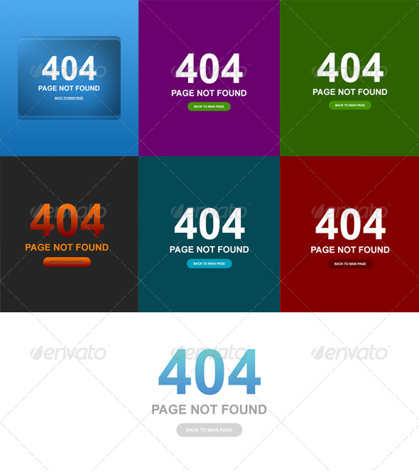 GraphicRiver 7 Clean Style 404 Error Web Pages 4467964