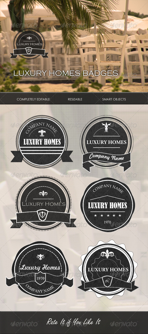 GraphicRiver Luxury Homes Badges 4475978