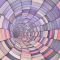 3d render tile tunnel pipes in multiple purple pink - PhotoDune Item for Sale