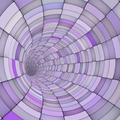 3d render tile tunnel pipes in multiple purple - PhotoDune Item for Sale