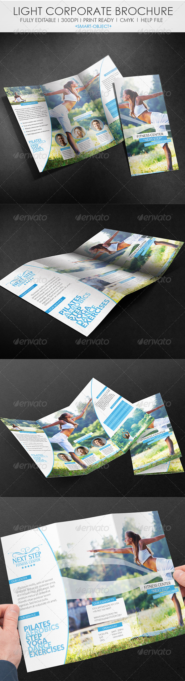 GraphicRiver Light Corporate Tri-fold Brochure 4524234