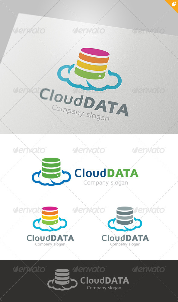 GraphicRiver Cloud Data Logo 4524489