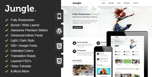 Jungle - Responsive Multi-Purpose WordPress Theme