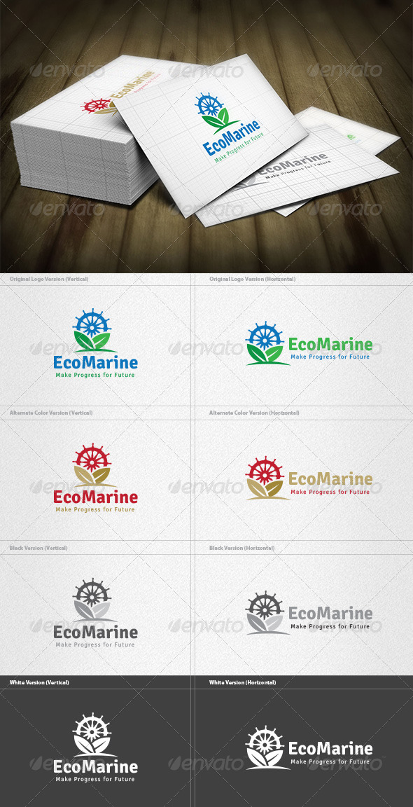 GraphicRiver Eco Marine Logo 4525418